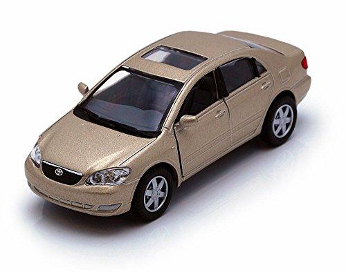 Kinsmart Tan Beige Toyota Corolla 2 Door Hardtop 136 Scale Diecast Car