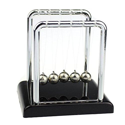 AckfulPhysics Science Accessory Desk Toy Newtons Cradle Steel Balance Balls