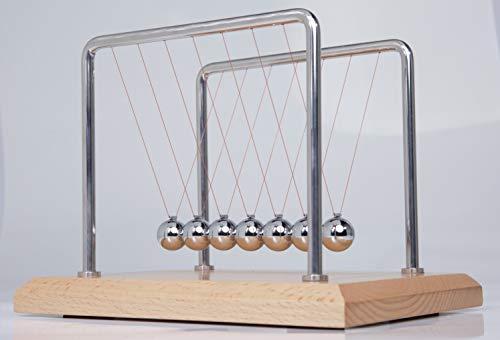 CERROPI 7 Balls Newtons Cradle -11 Inch Swing 50s Stainless Steel Frame