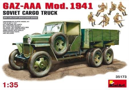 MiniArt GAZ-AAA Mod 1941 Soviet Cargo Truck 135 Scale Military Model Kit