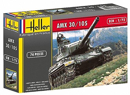 Heller AMX 30105 Main Battle Tank Military Land Vehicle Model Building Kit