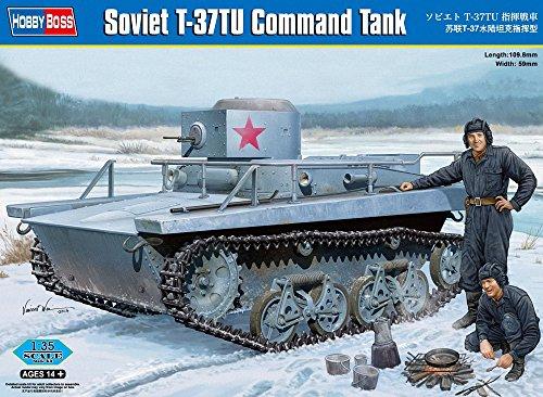 Hobby Boss Soviet T-37TU Command Tank Model Kit