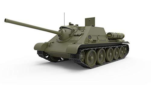 MiniArt 35187 Soviet WWII SU-85 Mod 1943 Mid Prod with Full Interior Self Propelled Gun 135 Scale World War II Military Miniatures Series Plastic Tank Model Kit