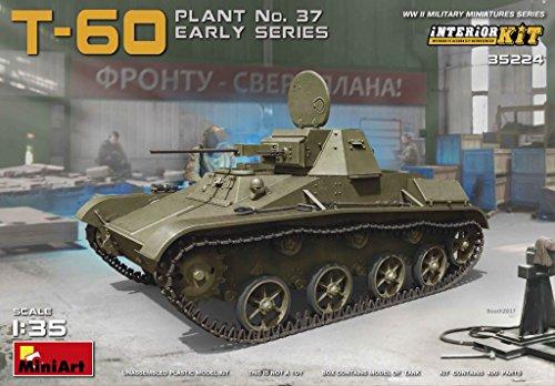 MiniArt 35224 Soviet WWII T-60 Plant No37 Early Series Interior Kit 135 Scale World War II Military Miniatures Series Plastic Tank Model Kit