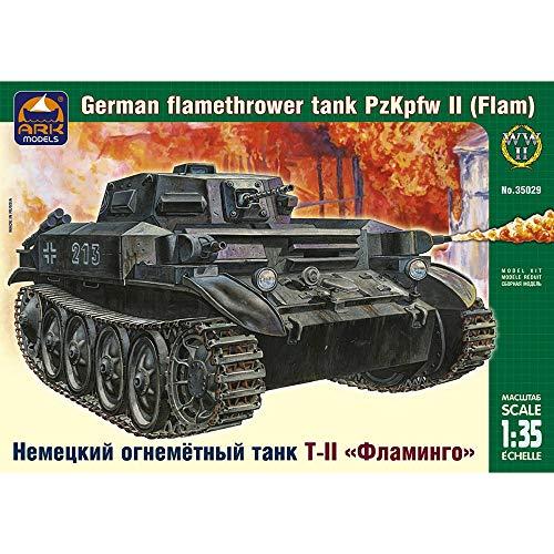 PzKpfw Flammpanzer II Flamingo German WWII Flamethrower Tank Model Kits Scale 135