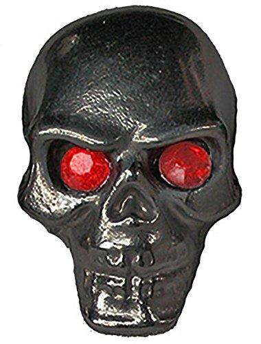 Black Pinewood Derby Tungsten Skull Weight - Red Jewel Eyes