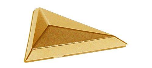 Gold Pinewood Derby Tungsten Triangle Weight