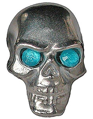Pinewood Derby Tungsten Skull Weight - Blue Jewel Eyes