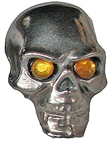 Pinewood Derby Tungsten Skull Weight - Yellow Jewel Eyes