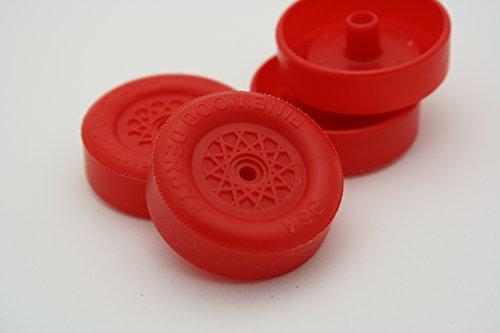 Pinewood Derby Speed Wheels - Derby Dust Black Ops - RED