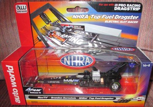 SC26348-2 Auto World NHRA Top Fuel Dragster MavTV Brandon Bernstein Electric Slot Car
