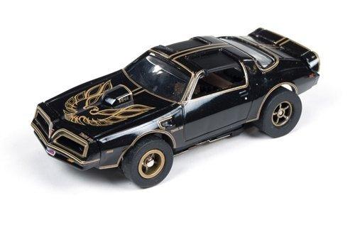 SC274 Auto World Smokey and The Bandit Firebird TA Black 4 Gear Electric Slot Car by Auto World