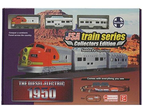 LEC USA 1950 Santa Fe Super Chief F7 EMD Battery Operated Train Set