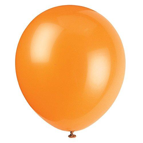 Unique Industries 12 Latex Balloons DIY Party Decoration - Pack of 72 Pumpkin Orange