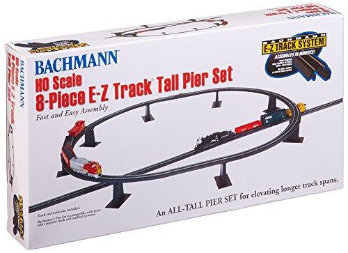 Bachmann Trains 8 PC E-Z TRACK TALL PIER SET - HO Scale