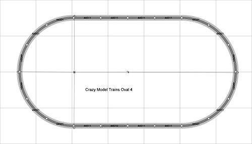 Oval 04 Bachmann 38 X 74 HO Scale E-Z Track Nickel Silver Rails Train Set