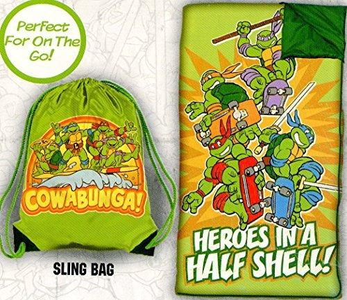 Teenage Mutant Ninja Turtles Slumber Bag Set - Heroes in a half shell