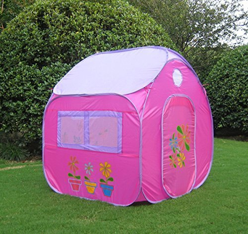 GreEco Kids Pop Up Tent Play House Tent 4 X 345 X 345 Feet Pink