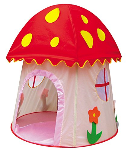 Amaskytm Beautiful Children Game Play Tent  Mushroom Shape Great for Indoor and Outdoor Mushroom shape