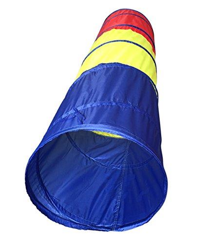 SueSport 6 Children Tunnel Kid Pop Up Discovery Tube Playtent Toy BlueYellowRed