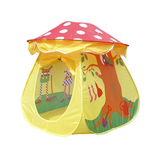 PIXNOR Kids Play Tent House - Mushroom Shaped