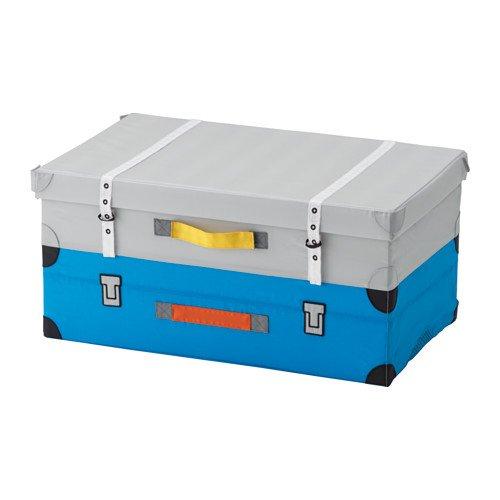 Amazing Ikea FLYTTBAR Toy trunk Turquoise 22 ½x13 ¾x11