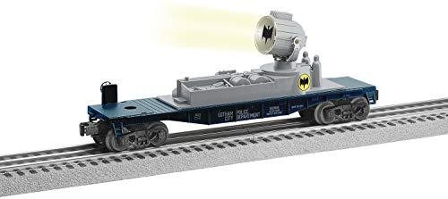 Lionel Batman Electric O Gauge Model Train Cars Bat Symbol Searchlight Car