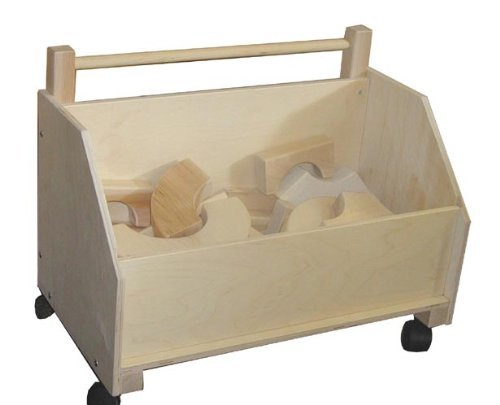 Beka 06201 Kids Wooden Toy Chest On Wheels by Beka