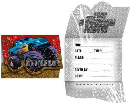 Creative Converting Mudslinger Birthday Party Invitations 8 Count