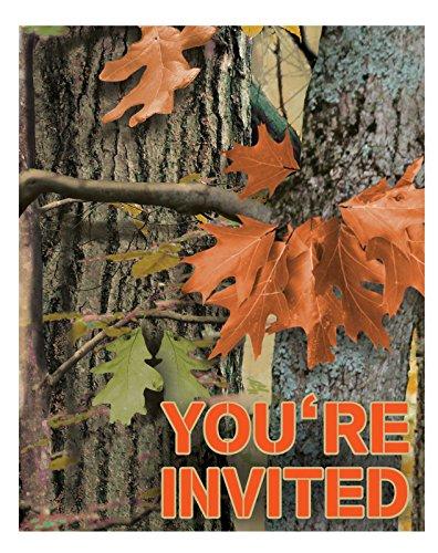 Hunting Camo Invitation 8 Invites Party Supplies