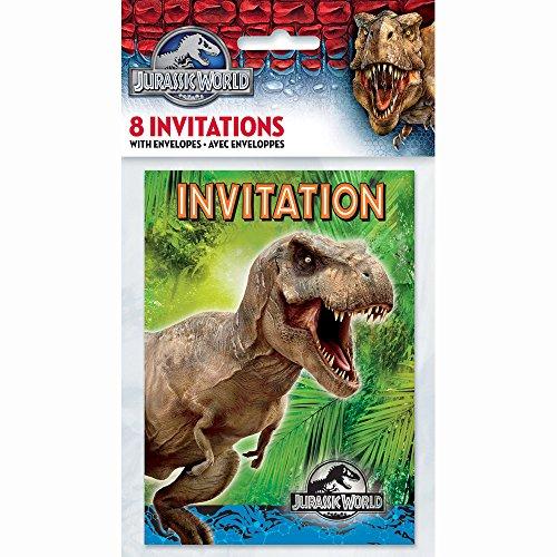 Jurassic World Party Invitations 8ct