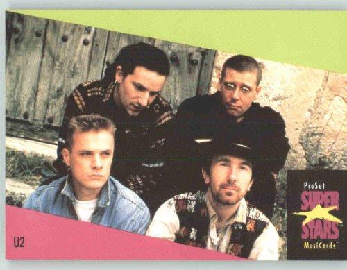 1991 Pro Set Superstars MusicCards UK Edition  143 U2 Collectible Pop Music  Rock Star Trading Card