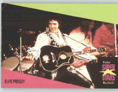 1991 Pro Set Superstars MusicCards UK Edition  38 Elvis Presley Collectible Pop Music  Rock Star Trading Card