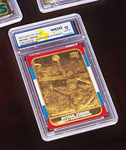 LIMITED EDITION GRADED 23 KT GOLD MICHAEL JORDAN NBA FLEER SPORTS CARD