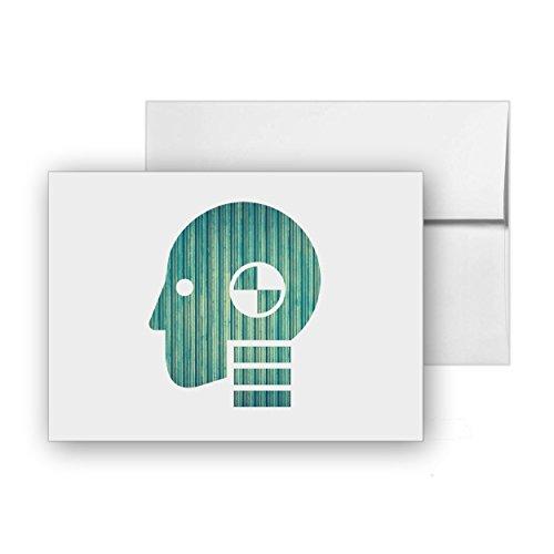 Crash Test Dummy Ergonomic Motor Impact Hit Blank Card Invitation Pack 15 cards at 4x6 with White Envelopes Item 252580