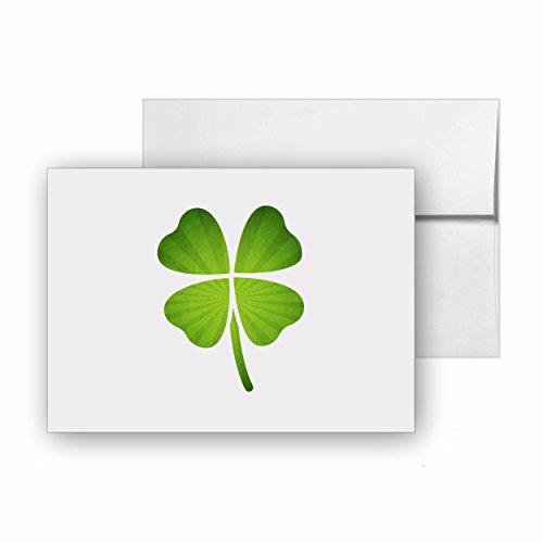 Four Leaf Clover Shamrock Leaf Blank Card Invitation Pack 15 cards at 4x6 with White Envelopes Item 549098