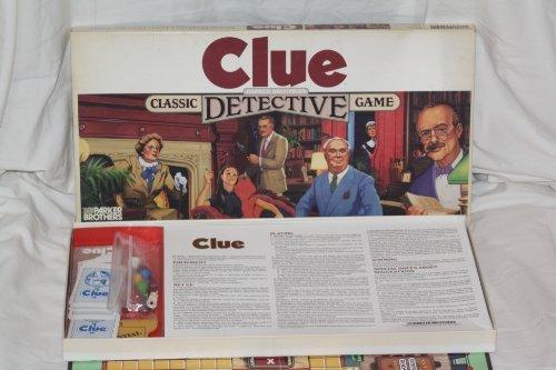Clue Vintage Detective Game 1986