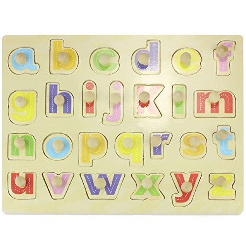 Lowpricenice Wooden Blocks Alphabet Kid Children Educational Intellectual Toy Puzzle