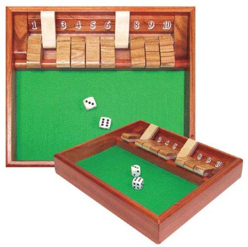 Trademark Poker Shut The Box Game 10 Numbers