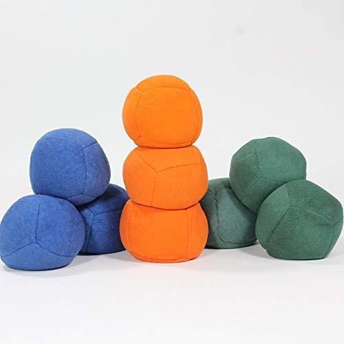 Zeekio Thud Juggling Ball Set - Lightweight 90g Beanbag Ball - Super Soft - Set of Three 3 Blue