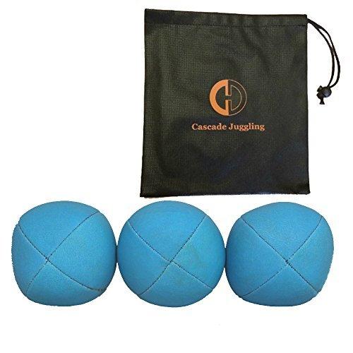 3 x Pro UV Smoothie Juggling Balls Bag - Set of 3 Juggling Balls - Blue by Juggle Dream and Cascade Juggling