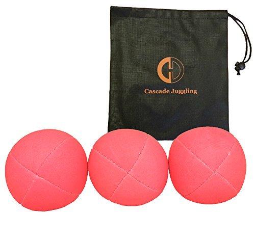 3 x Pro UV Smoothie Juggling Balls Bag - Set of 3 Juggling Balls - Pink by Juggle Dream and Cascade Juggling