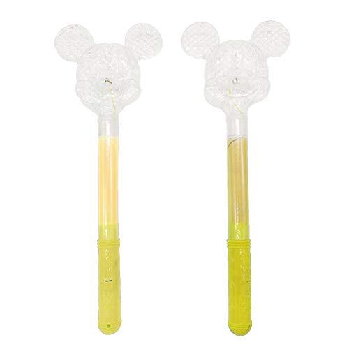 2 PCS LED Liht Up Wand Mickey Mouse Toy Glow Sticks Handhelds Magic Flashing Princess Wandyellow