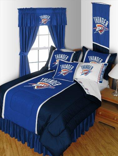 Oklahoma City Thunder 5PC TWIN Bedding Set Comforter 3PC Twin Sheet Set 1 Pillow Sham NEW NBA OKC