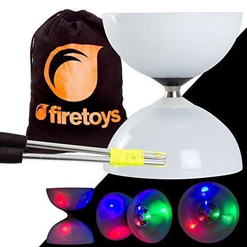 LED Big Top Light Up Bearing Diabolos Set Ali Dream Metal Diablo Sticks Diabolo string Firetoys Bag