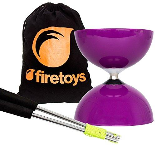 Purple Big Top - Jumbo Bearing Diabolos Set Ali Dream Metal Diablo Sticks Diabolo string Firetoys Bag by Juggle Dream