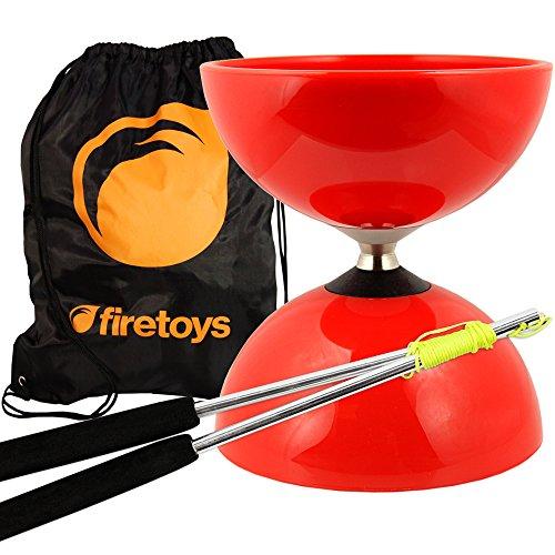Red Big Top - Jumbo Bearing Diabolos Set Ali Dream Metal Diablo Sticks Diabolo string Firetoys Bag
