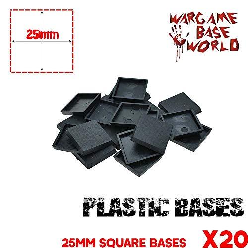 GRENFAS_Model Bases for Gaming Miniatures 20pcs 25mm Square Base