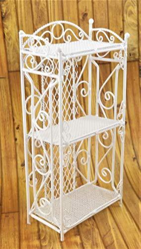 Melody Jane Dollhouse White Wire Wrought Iron Shelf Unit Miniature 112 Scale Furniture