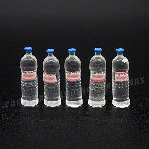 Odoria 112 Miniature 5PCS Mineral Water Bottles Dollhouse Food Accessories